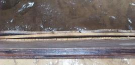 The wood was splitting apart